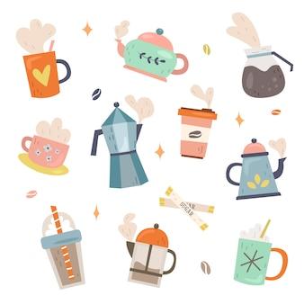 Ensemble de collection de café