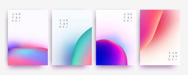 Ensemble de collection de fond abstrait minimaliste