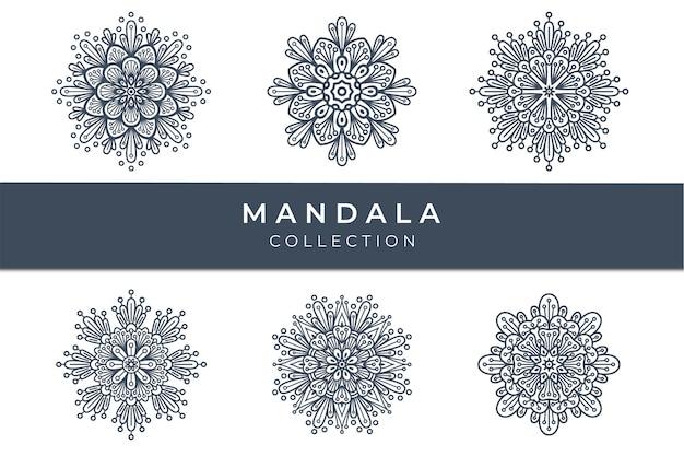 Ensemble de collection de formes de mandala