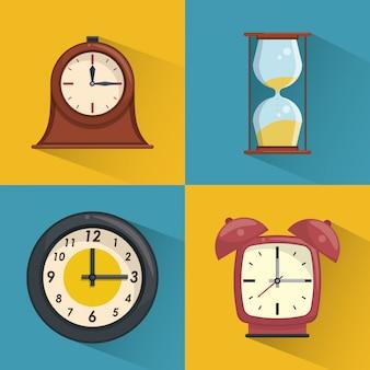 Ensemble de collection d'horloges