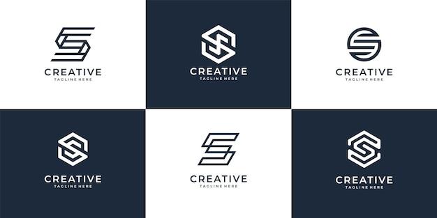 Ensemble de collection d'icônes logo lettre moderne s pour entreprise moderne.