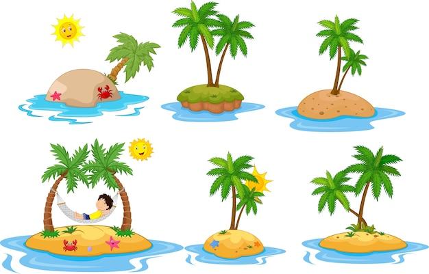 Ensemble de collection île tropicale