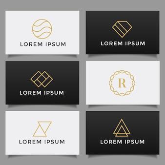 Ensemble de collection de logo créatif simple minimaliste.