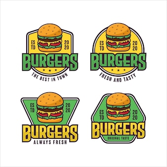 Ensemble de collection de logo de hamburgers