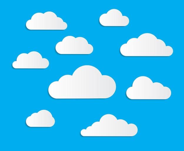 Ensemble de collection de nuages