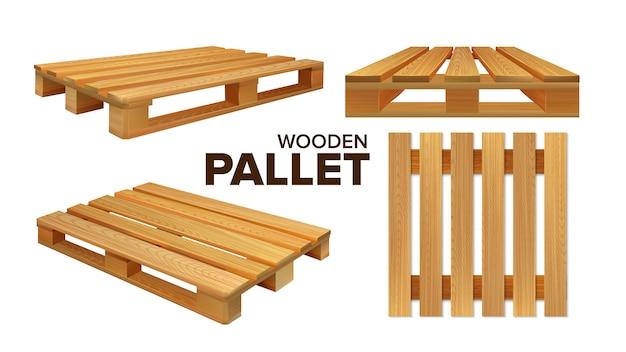 Ensemble de collection de palettes en bois de différentes tailles