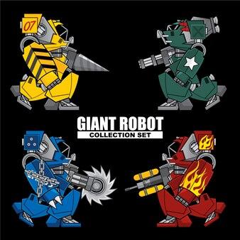 Ensemble de collection robot géant