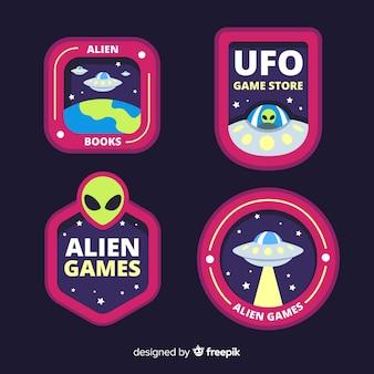 Ensemble coloré de badges modernes