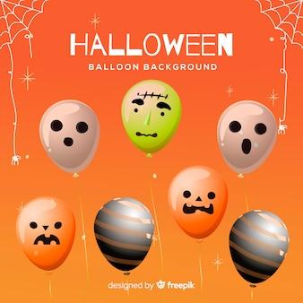Ensemble coloré de ballons d'halloween