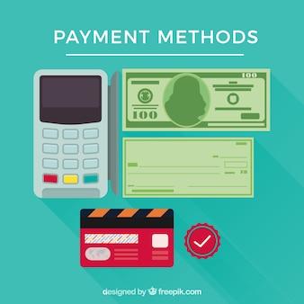 Ensemble coloré de méthodes de paiement