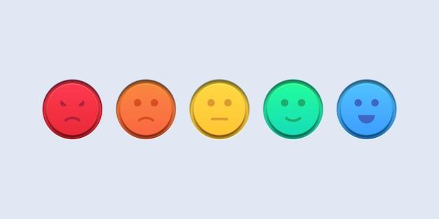 Ensemble de commentaires d'évaluation d'émoticônes