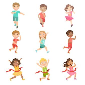 Ensemble de compétition kids in running