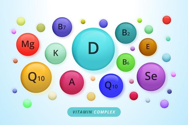 Ensemble complexe de vitamines et minéraux