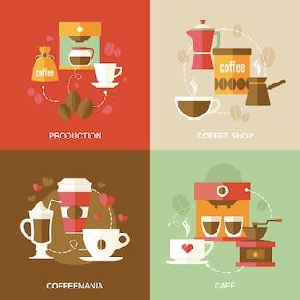 Ensemble de composition de café