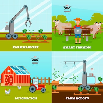 Ensemble de composition smart farming