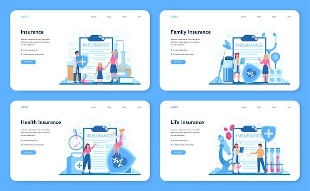 Ensemble de concept d'assurance maladie