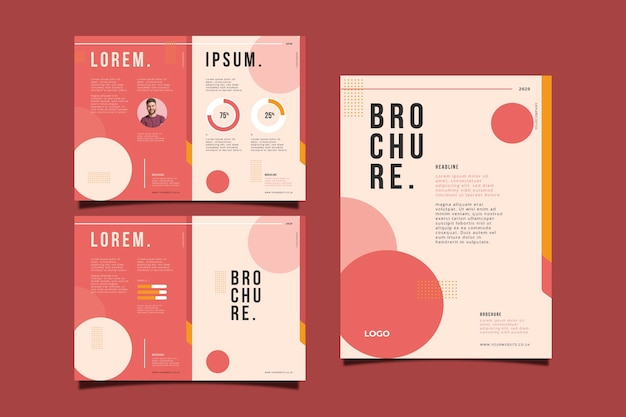 Ensemble de concept de brochure abstraite