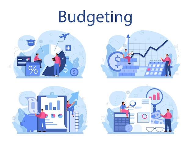 Ensemble de concept de budgétisation