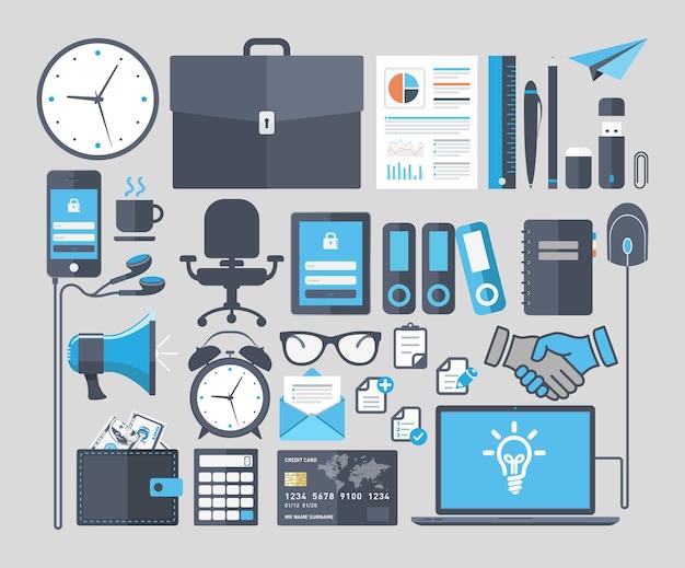 Ensemble de concept de design plat icônes vectorielles