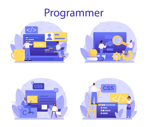 Ensemble de concept de programmation.