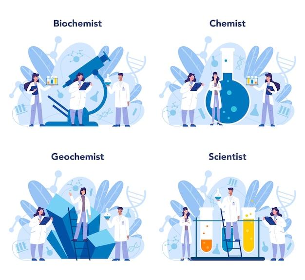 Ensemble de concept de science chimie