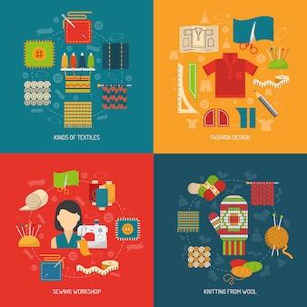 Ensemble de concept textile
