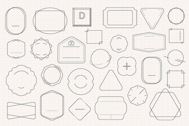Ensemble de conception de badge minimal vierge