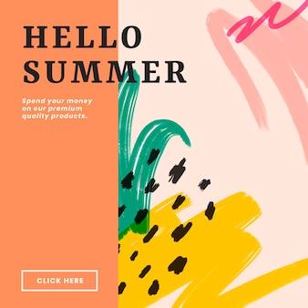 Ensemble de conception de bannière de site web coloré