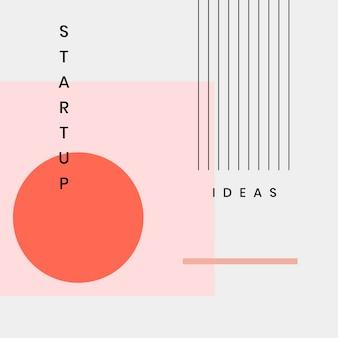 Ensemble de conception de bannière de site web minimal