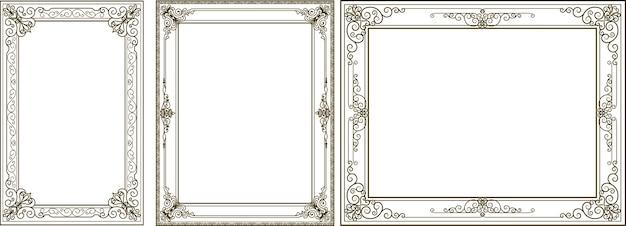 Ensemble de conception de bordure de cadre est le motif