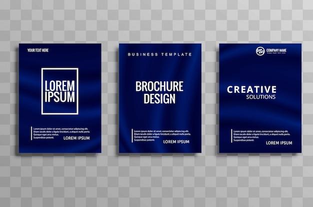 Ensemble de conception de brochure d'affaires abstrait