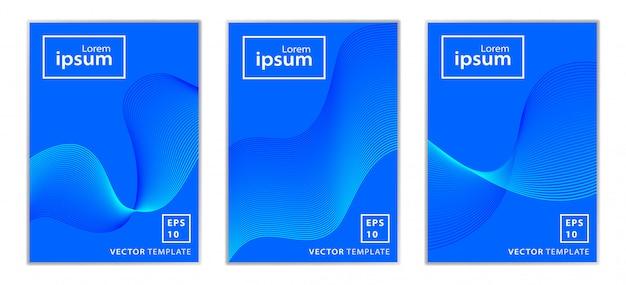 Ensemble de conception de couverture de brochure professionnelle minimale