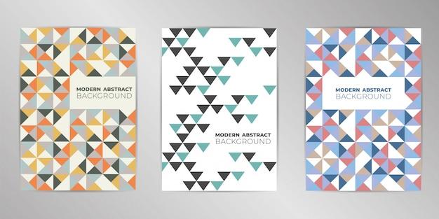 Ensemble de conception de couverture coloré moderne