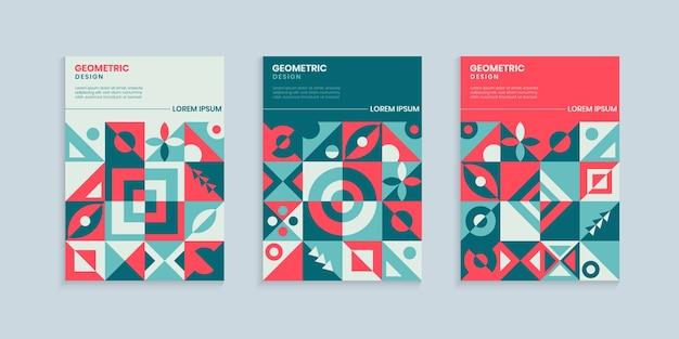 Ensemble de conception de couverture géométrique rétro