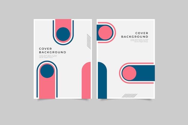 Ensemble de conception de couverture de livre géométrique