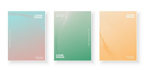 Ensemble de conception de couvertures abstraites minimales dégradé coloré
