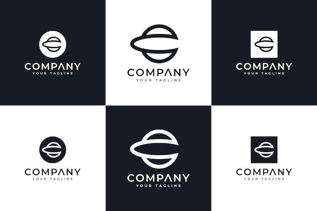 Ensemble de conception créative de logo de cercle de lettre c pour toutes les utilisations