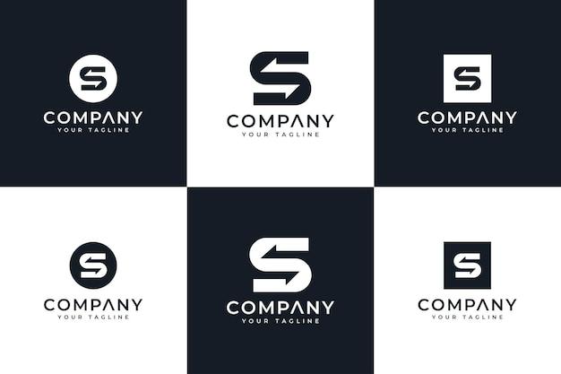 Ensemble de conception créative de logo de flèche de lettre s pour toutes les utilisations
