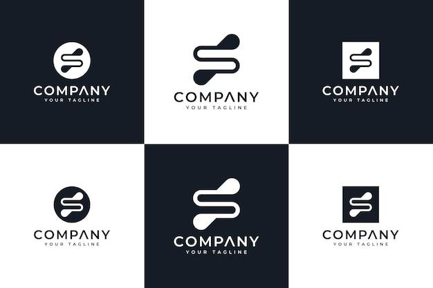 Ensemble de conception créative de logo de lettre d2 pour toutes les utilisations