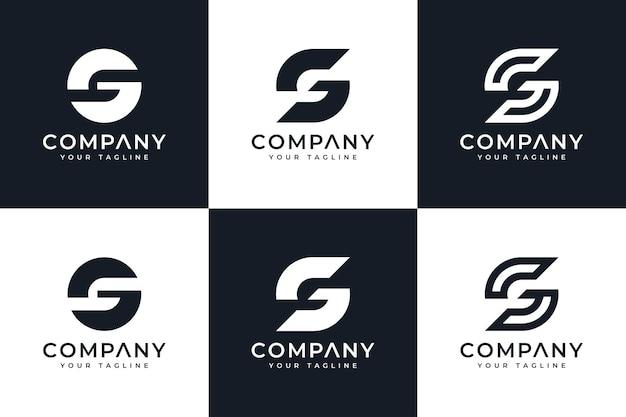 Ensemble de conception créative de logo de lettre g pour toutes les utilisations