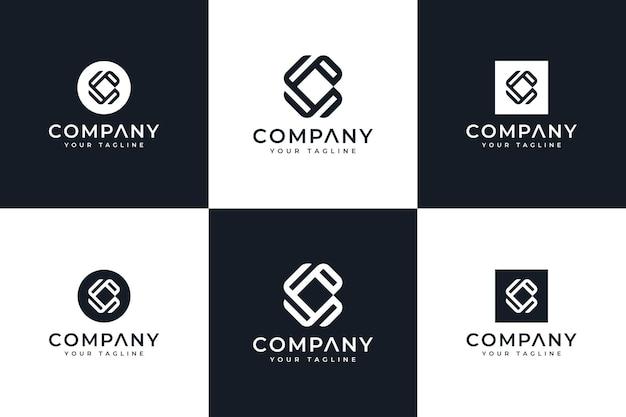 Ensemble de conception créative de logo de lettre c pour toutes les utilisations