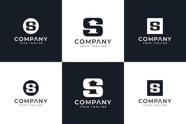 Ensemble de conception créative de logo de lettre s pour toutes les utilisations