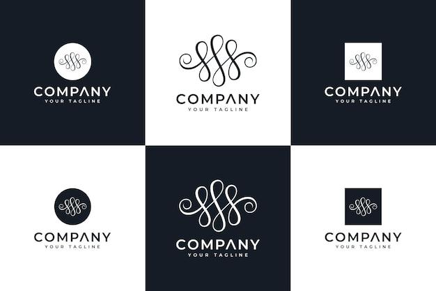 Ensemble de conception créative de logo de luxe de lettre s pour toutes les utilisations