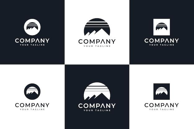 Ensemble de conception créative de logo de montagne pour toutes les utilisations