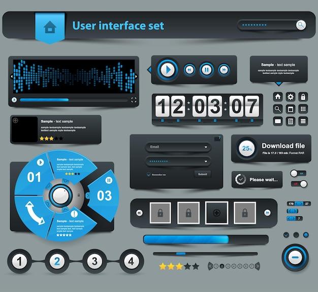 Ensemble de conception d'éléments d'interface utilisateur