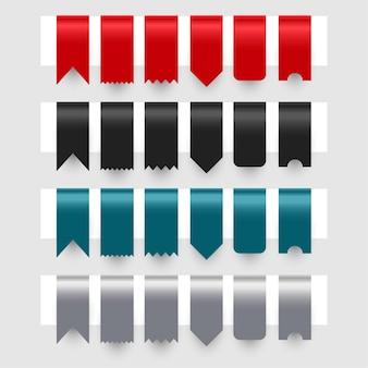 Ensemble de conception d'étiquettes étiquettes rubans