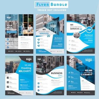 Ensemble de conception de flyer d'entreprise