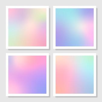 Ensemble de conception de fond dégradé holographique coloré