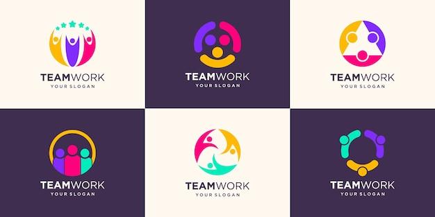 Ensemble de conception d'illustration d'icône communautaire