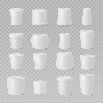 Ensemble de conception d'illustration de pots de fleurs
